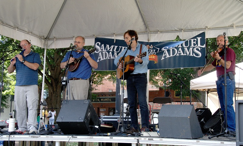Virgil, Richard, Nathan, and Jeff playing at Raleigh Irish Fest