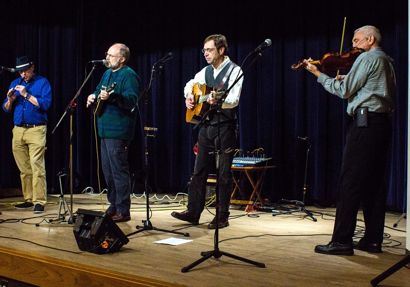 Nathan, Virgil, Richard, and Jeff playing at Davidson County Community College
